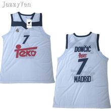 Luka JazzyVten 2018 Novo  7 Doncic Europa basquetebol jersey todo o tamanho  do Bordado Costurado Top Quality camisas esporte 05291ab24