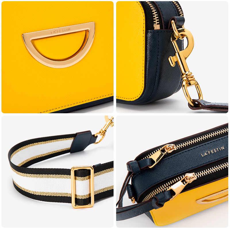 La Festin сумки для женщин 2019 новая кожаная маленькая квадратная сумка широкий плечевой ремень сумка через плечо для женщин bolsa feminina