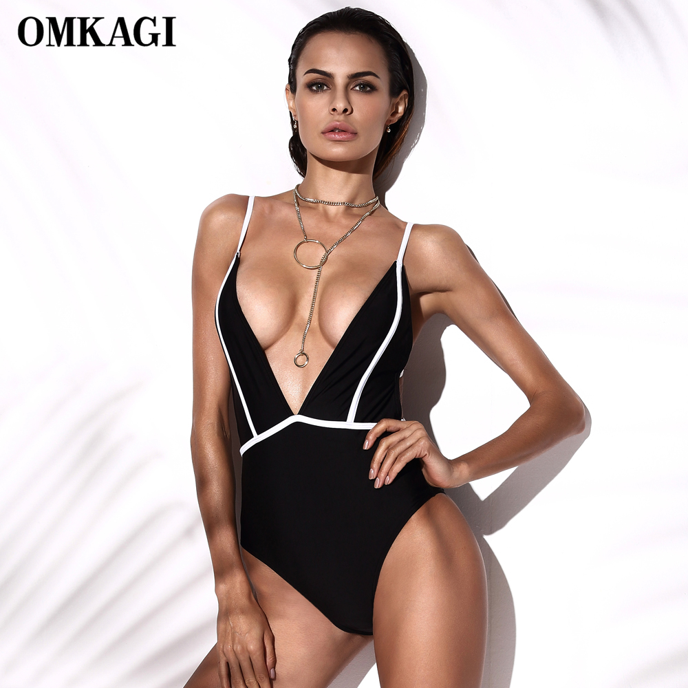 Swimwear Women Sexy One Piece Swimsuit  Bodysuit Push Up Bathing Suit 2017 Monokini Maillot De Bain Femme Swim Suit Swim Wear navy blue high cut one piece swimsuit 2017 sexy zipper swimwear women bathing suit beachwear monokini bodysuit maillot de bain