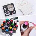 Кнопка цвет УФ-Гель Польский Цветной Дисплей Белый Силиконовый Клей Пастер 25 или 100 шт. Набор