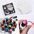 Color Button UV Gel Polish Color Display White Silicone Adhesive Paster 25 or 100 pcs Set