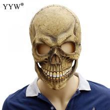 Festival Latex Masks Halloween Scary Skull Mask Mascaras Cosplay Man Terror Full Face Maske Ghost Horror Party Masker
