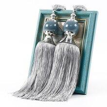 1 пара, для дома, сделай сам, для спальни, занавеска, подвешивание, бисер, подходит ко всему, элегантные Висячие Holdbacks, галстук, веревка, повязка, декоративная, простая кисточка