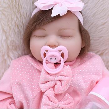 "bebes reborn realista 20""50CM soft silicone reborn baby dolls fake sleeping newborn babies alive child gift toy boneca"
