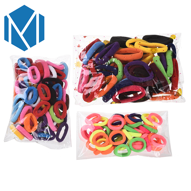 M MISM 50-80Pcs/Pack Colorful Hair Elastic Bands Gum Rubber Band Bezel for Women Kids Girls Hair Accessories Scrunchy Ties