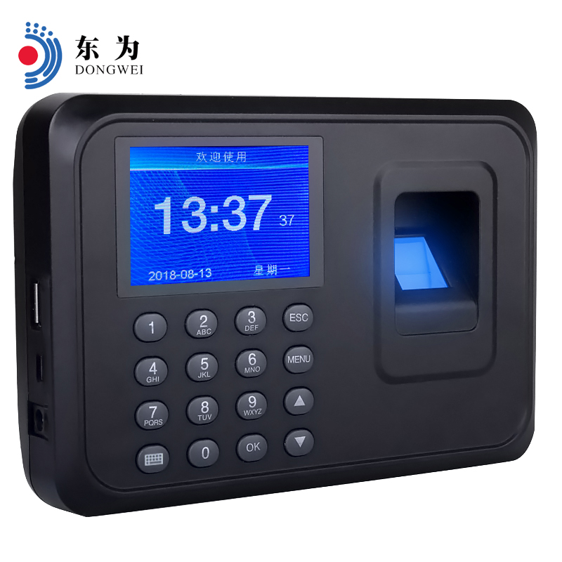 DW F01 Biometric Employee Clock Recorder Fingerprint Attendance Machine Office Electronics .