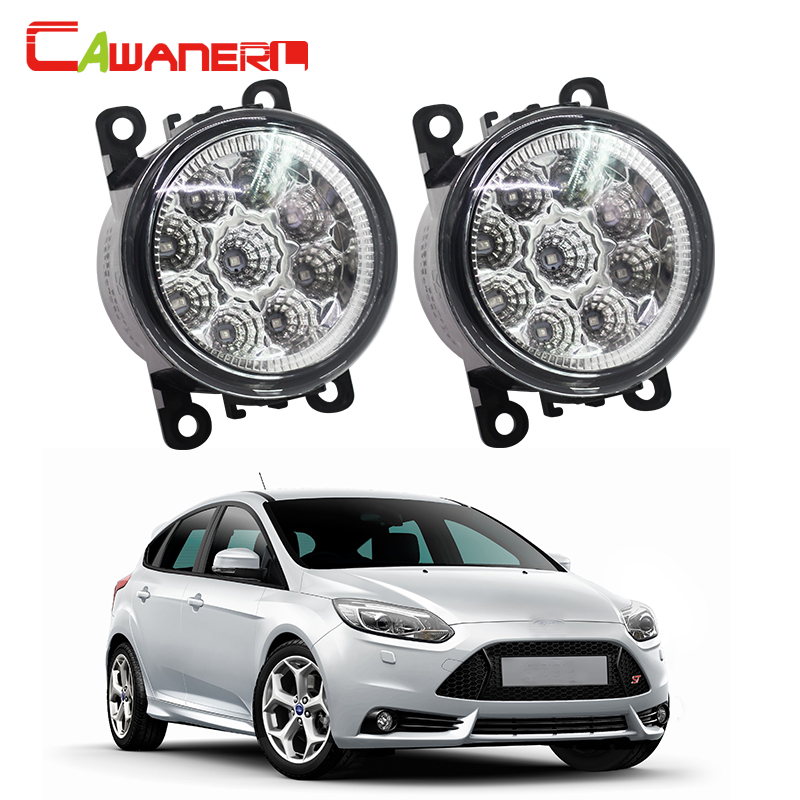 Cawanerl Car Styling Auto Fog Light DRL Daytime Running Lamp LED Light 12V White Blue Orange 2 Pieces For Ford Focus II car styling daytime running light auto fog lamp for b mw e90 3 series led daylight drl