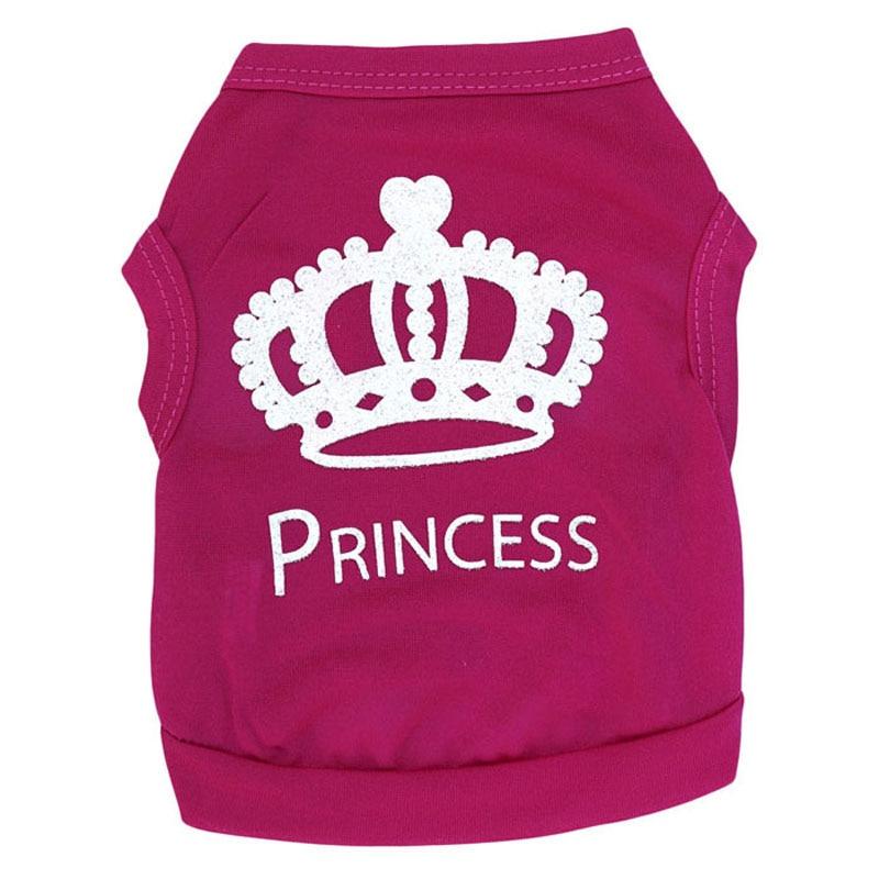 ④Rosa princesa cachorro perro gato mascota camiseta chaleco ropa ...