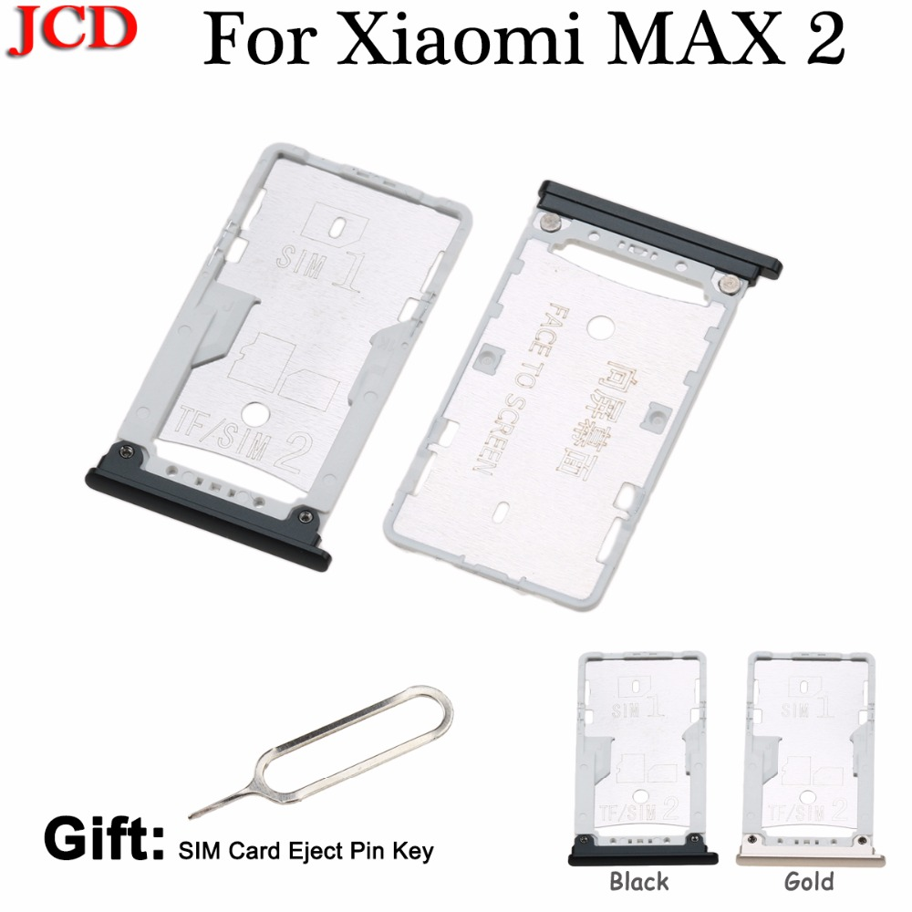 JCD New Sim Cards Adapters For Xiaomi Max2 Mi Max 2 SIM Card Tray Socket Slot Holder Adapters Phone Replacement Housing Parts