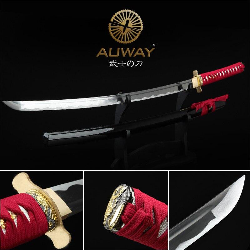 Sra. Espada afilada de samurai. COSPLAY espada real katana artesanía - Decoración del hogar
