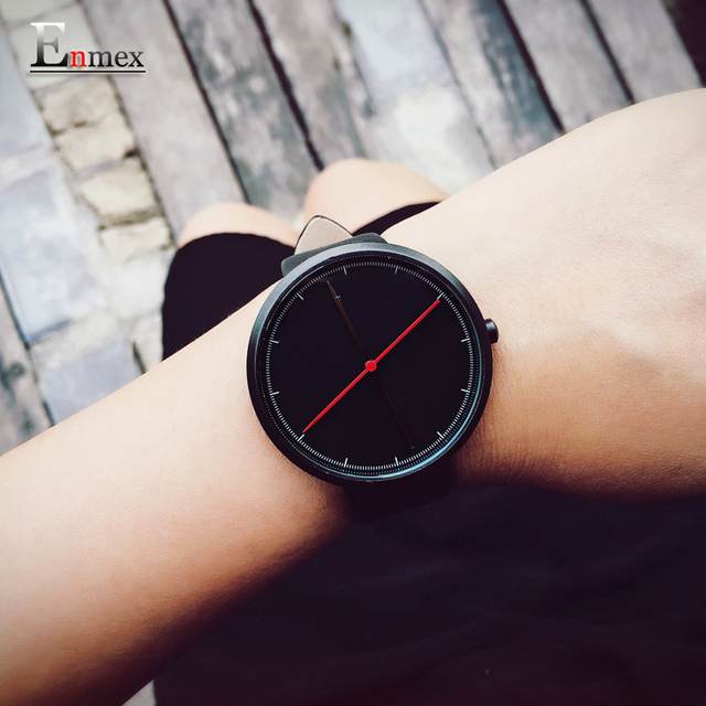 Creative style  cool wristwatch two balance hands with Fine scale casual stainless steel fashion quartz watch