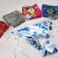 Hot sale Sexy Women pure silk Underwear Adjustable Girl Thongs G-string V-string Lady Lingerie Panties Seduce Underwear