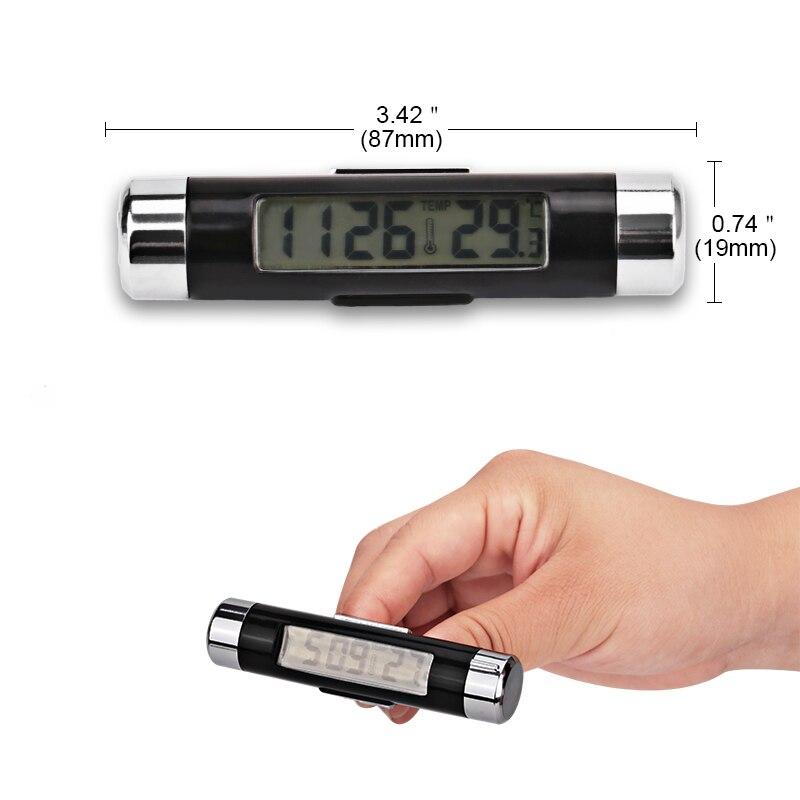 2 in 1 auto termomeetri kella automaatne taustvalgus lcd digitaalne - Auto salongi tarvikud - Foto 4