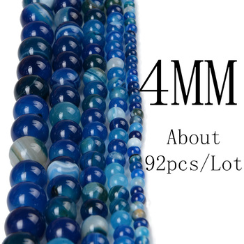 Chanfar 4 6 8 10 12mm Natural Stone Beads Black Lava Tiger Eye Bulk Loose Stone Beads For DIY Making Bracelet Necklace Jewelry 1