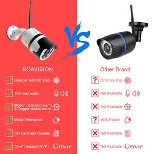 Image 2 - HD 1080P 5MP Bullet WiFi IP Camera ONVIF Wireless Outdoor Night Vision 20m CCTV Security Camera Two Way Audio Alarm P2P CamHi