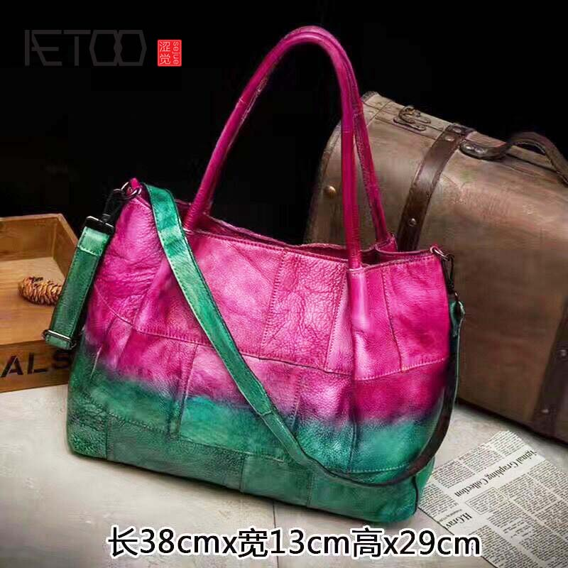 Здесь продается  AETOO Imported first layer leather Messenger bag retro hand-colored bag neutral fashion 2018 new leather handbag  Камера и Сумки
