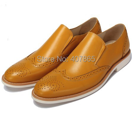 Free shipping New style leisure men's leather shoes