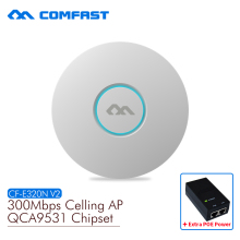 COMFAST wireless Ap CF-E320N 300Mbps Ceiling AP 802.11b/g/n ATHEROS MTK7620 Indoor AP 48V POE power 16 Flash WiFi Access Point цена 2017