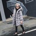 Doudoune Fille Girls Winter Coats Size 5 Hoodie Hooded Outwear Warm Coat Jacket Polyester Long Zipper Baby Toddler Girls Tops