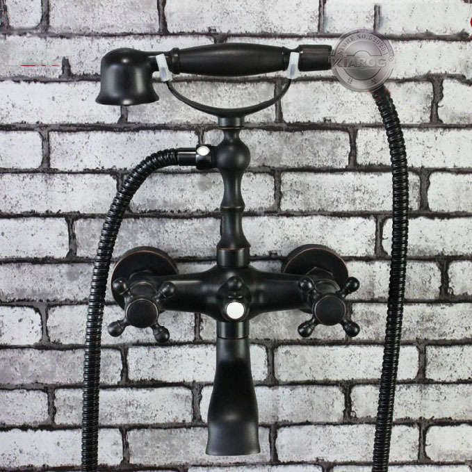 Wall mounted Bathroom Clawfoot bathtub shower faucets.Oil Rubbed Bronze Basin sink Mixer Tap.tub faucet & hand shower YN-325Wall mounted Bathroom Clawfoot bathtub shower faucets.Oil Rubbed Bronze Basin sink Mixer Tap.tub faucet & hand shower YN-325