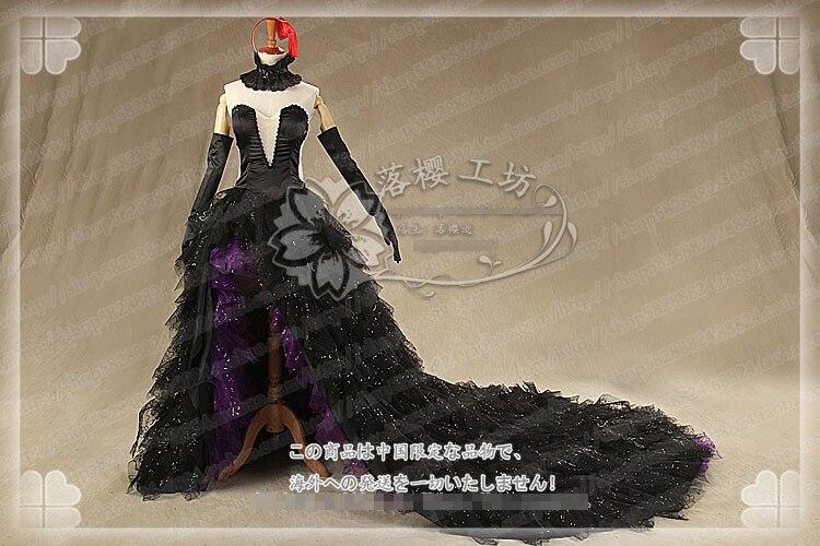 Hot Anime Puella Magi Madoka Magica Akemi Homura Devil Black Party Full Lolita Fashion Dress Uniforms Customized Cosplay Costume