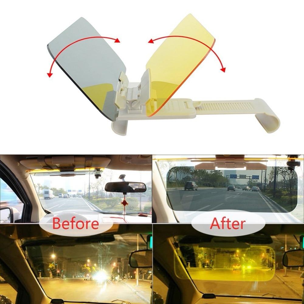 Parasol de coche HD Anti luz del sol deslumbrante gafas de día visión nocturna espejo de conducción UV plegable Flip Down vista clara