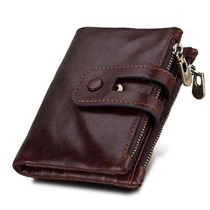 2018 New Luxury Men Wallets Casual Male Clutch Brand genuine leather Wallet Men Purse Card Holder Multi function Money Bag Hot