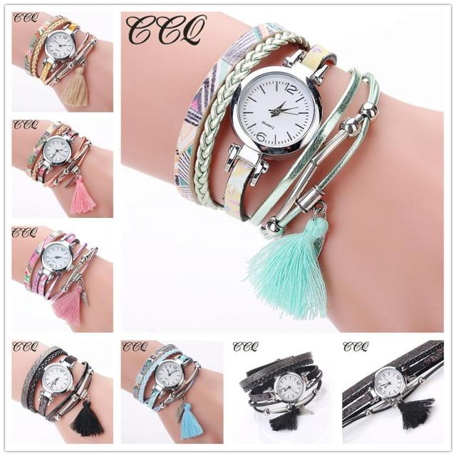 CCQ Fashion Women Girls Analog Quartz Wristwatch Ladies Dress Bracelet Watches w