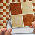18pcs/set Vintage 3D Tile Stickers Cover 0.18m*2 Self-adhesive Decals Waterproof Oil-proof Home Decor Removable Wall Sticker