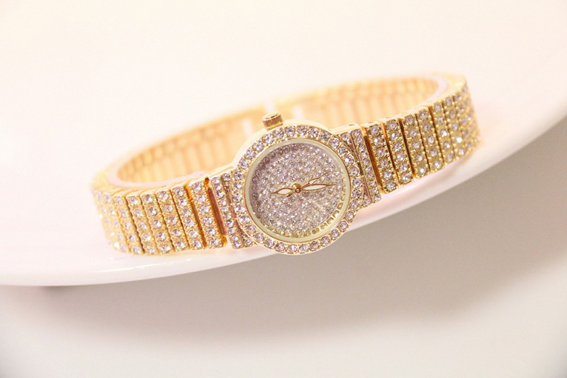 HTB15KYALSzqK1RjSZFLq6An2XXa4 Bs Bee Sister Diamond Women Watches Luxury Brand Small Dial Female Rose Gold Watches Ladies Stainless Steel Lock Bayan Kol Saati
