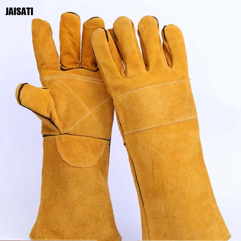 395 cm high temperature welding Working gloves cowhide gloves labor protection gloves Work Gloves Cowhide Driver insulated gloves electric gloves 5kv anti live live work high pressure live work labor protection protective rubber gloves