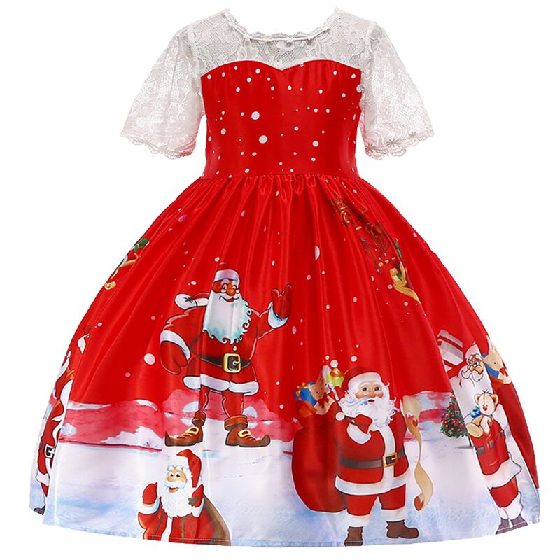 Baby Girl Clothes Kids Dresses For Toddler Children Christmas Clothing -7703