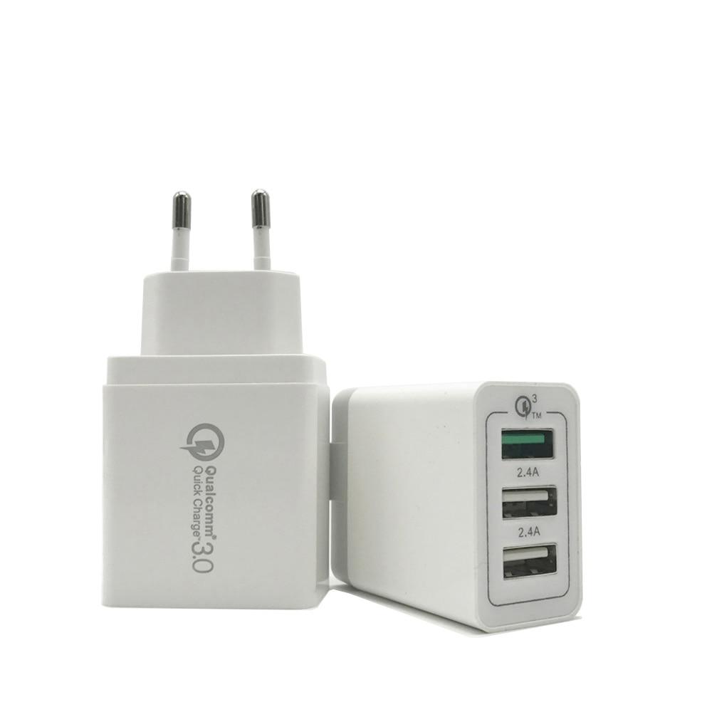 Snabbladdning 3.0 3 portar USB QC 3.0 Resesnabb Turbo-laddare för - Reservdelar och tillbehör för mobiltelefoner