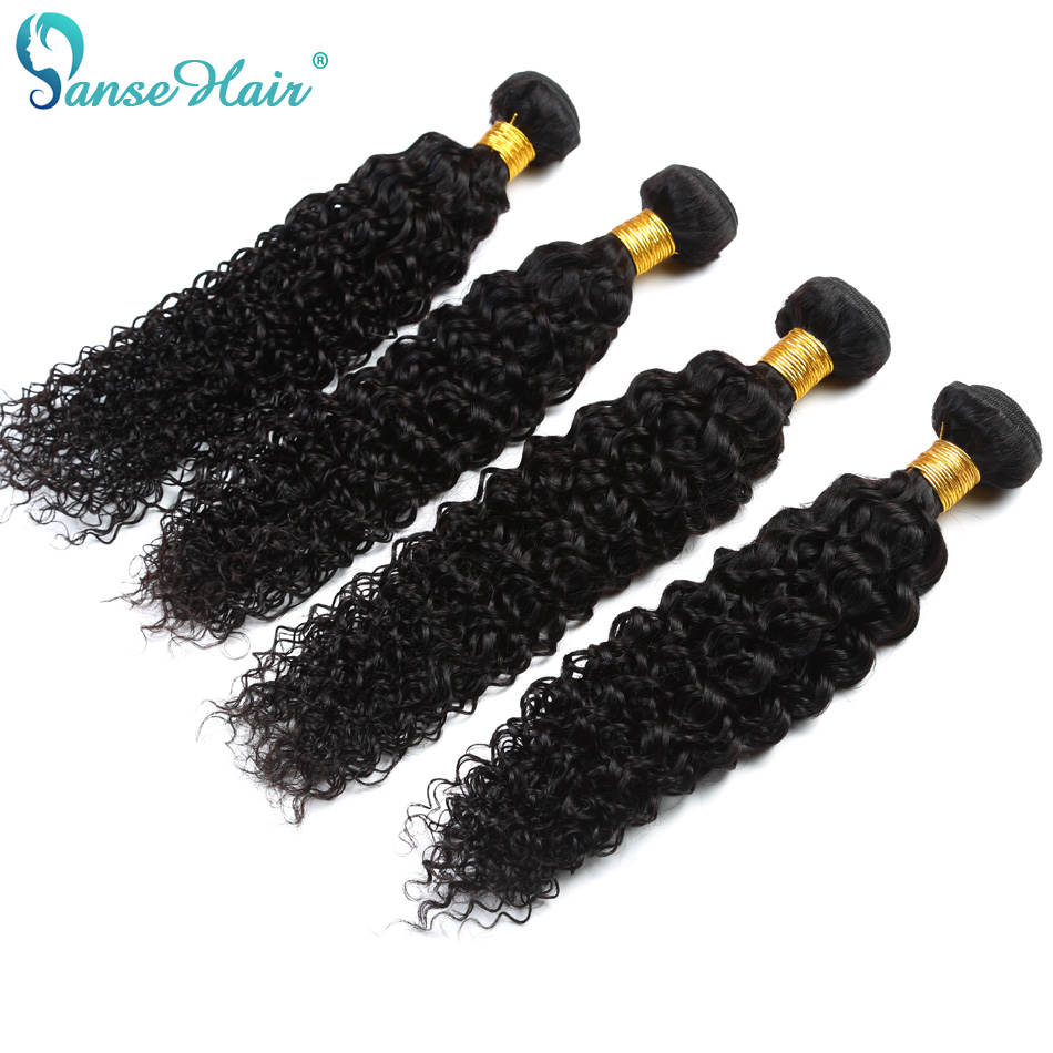 Panse Hair Kinky Curly Indian Hair 4 bundles Per Lot Non Remy Human Hair Weaving Customized 8 To 30 Inches Hair Bundle
