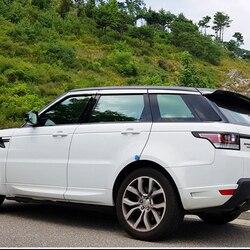 1 zestaw Windows Chrome Vent daszek deszcz straż osłona przeciwsłoneczna deflektory dla Land Rover Range Rover Sport 2014 2019|Markizy i zadaszenia|   -