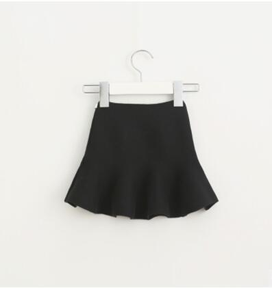 Очаровательная юбка для маленьких девочек; детские юбки-пачки с оборками; детская юбочка; уютные вязаные вечерние юбки; одежда для свадьбы; Рождественский подарок - Цвет: black