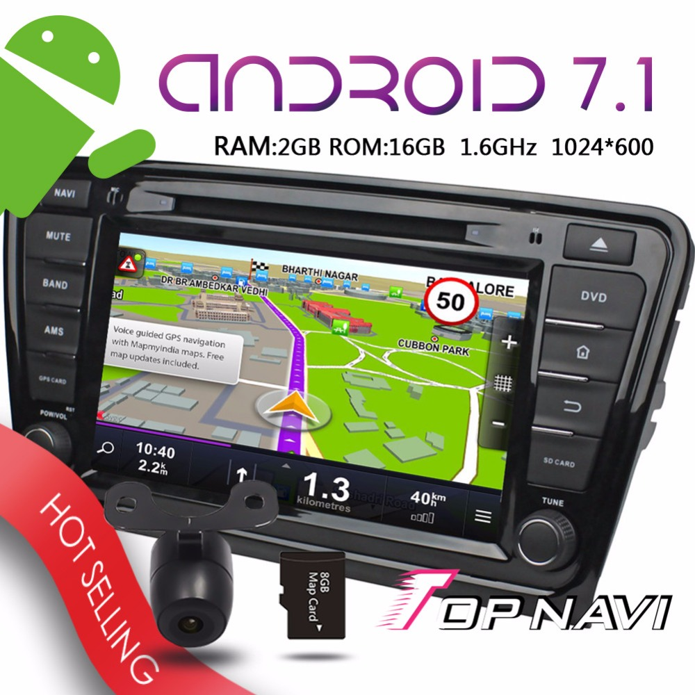 Topnavi 8 Android 7 1 Auto Audio Players For Skoda Octavia 2014 Car Vehicle 3G Bluetooth
