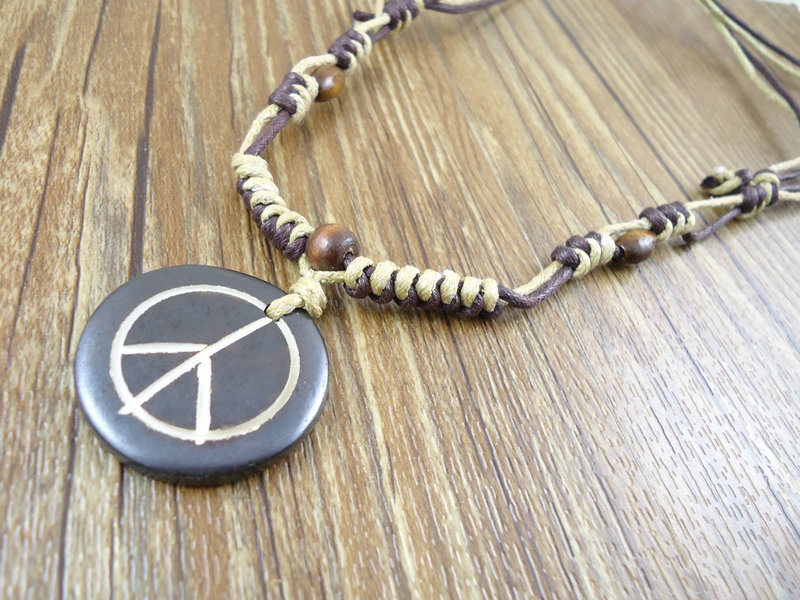 New trendy fashion unique handmade world peace symbol resin pendants new trendy fashion unique handmade world peace symbol resin pendants sweater vintage men hemp rope necklaces jewelry for women in pendant necklaces from aloadofball Image collections