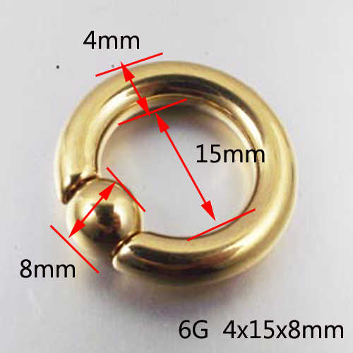 SaYao 1 ชิ้นขนาดใหญ่ทองต่างหูสแตนเลส Captive Hoop แหวน BCR Eyebrow Tragus Nipple Piercing Nose แหวนเครื่องประดับ
