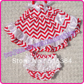 red white Stripe chevron cotton swing top set baby girls clothing set bloomers set baby santa outfit 3sets/lot free shipping