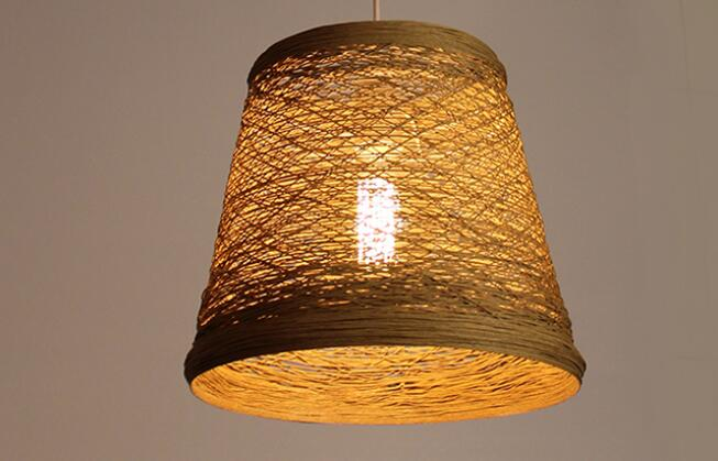Bambou chambre pendentif lumières éclairage balcon restaurant rotin bar chinois rétro pastorale bambou rotin lampe ZB9985