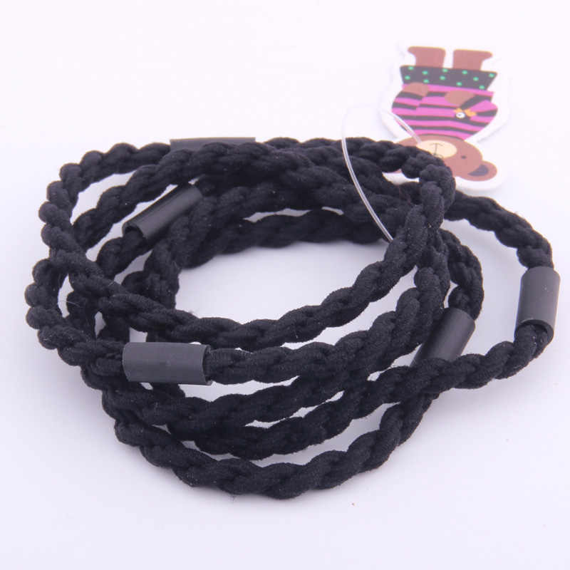 2019New Arrival Hair Ring For Lady Fashion Braided Simple Solid Rubber Bands Strong Elastic Band For Hair Basic Casual Hair Rope
