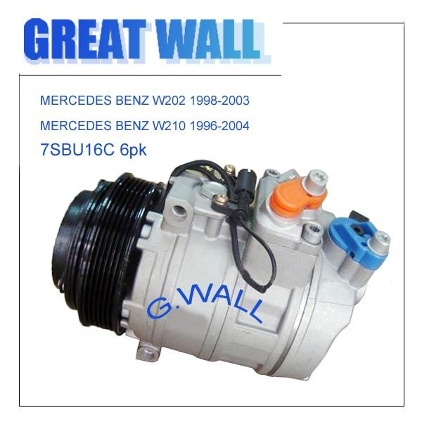 Compresseur de voiture AC pour MERCEDES BENZ W202 W210 Sprinter compresseur mercedes benz 447100-2031 447100-6820 A0002302011