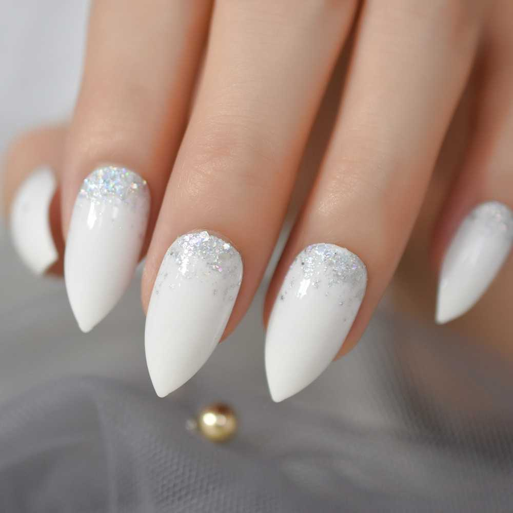 Glitter Ombre White Gold Maroon Nails Wwwgalleryneedcom