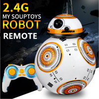 1PC Upgrade RC BB8 Robot With Sound And Dancing Action Figure Gift Toys 2 4G Remote