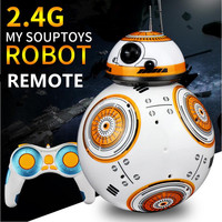 1PC Upgrade RC BB8 Robot With Sound And Dancing Action Figure Gift Toys 2.4G Remote Control BB 8 Robot Intelligent BB 8 Ball Toy