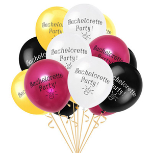 Image 2 - 12inch Penis Letter Latex Balloons Black Offensive Ballons Happy Birthday Decorations Hen Bachelorette Wedding Party Supplies