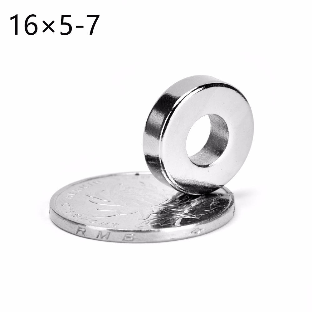 2pcs 16 x 5 mm Hole: 7mm N50 Super Strong Round Neodymium Countersunk Ring Magnets Rare Earth Free Shipping 16*5 hole 6.8mm chaoyang 16 2 50 16 2 5 16x2 50