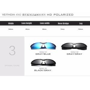 Image 5 - VEITHDIA Brand Summer New Aluminum Rimless Mens Polarized Sunglasses Sun Glasses Eyewear oculos de sol masculino For Men VT6562