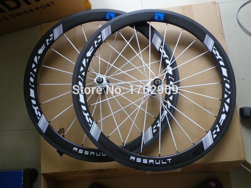 1 paire Plus Récente 700C 50mm pneu jantes vélo de Route 3 k UD 12 k carbone roues de vélo aero parlé 20.5/23/25mm largeur bateau Libre